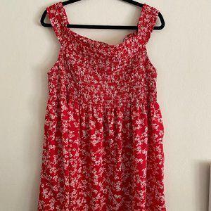 ASOS Shirred Off-the-Shoulder Mini Sundress